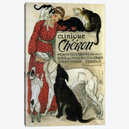 Clinique Cheron Advertising Vintage Poster Canvas Print #5291} Canvas Wall Art