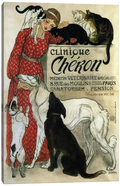 Clinique Cheron Advertising Vintage Poster Canvas Art Print