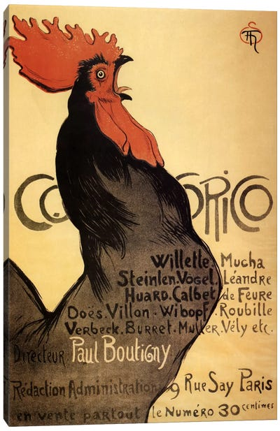 Cocorico Advertising Vintage Poster Canvas Print #5293