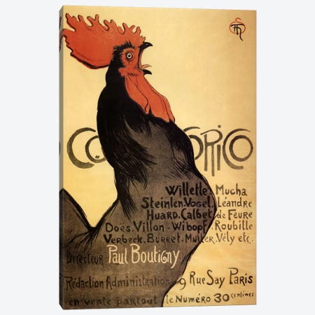 Cocorico Advertising Vintage Poster Canvas Print #5293} by Unknown Artist Canvas Art