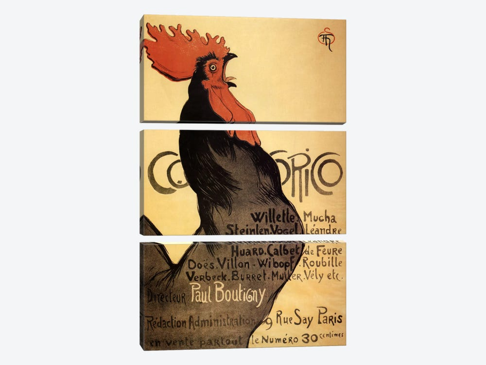 Cocorico Advertising Vintage Poster by Unknown Artist 3-piece Art Print