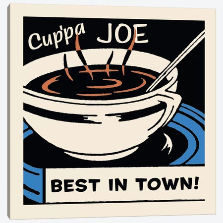 Cup'Pa Joe Best In Town Advertising Vintage Poster 3-Piece Canvas #5337} by Retro Series Canvas Wall Art
