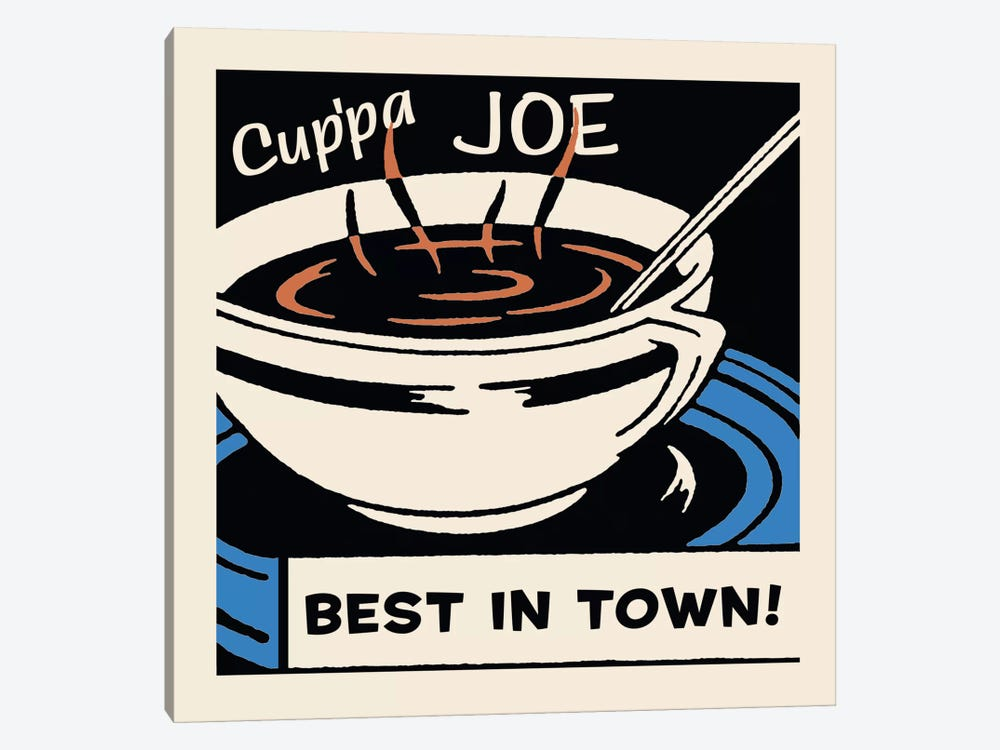 Cup'Pa Joe Best In Town Advertising Vintage Poster by Retro Series 1-piece Canvas Artwork