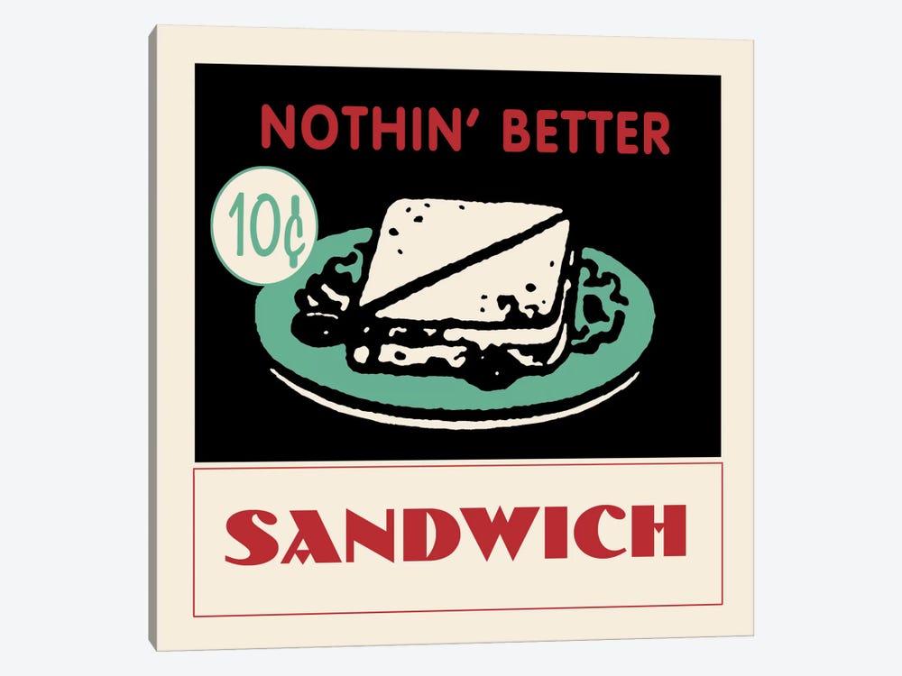 """Nothin' Better"" Vintage Sandwich Advertisement by Retro Series 1-piece Art Print"