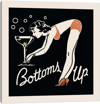 Bottoms Up - Vintage Ad Poster Canvas Art Print