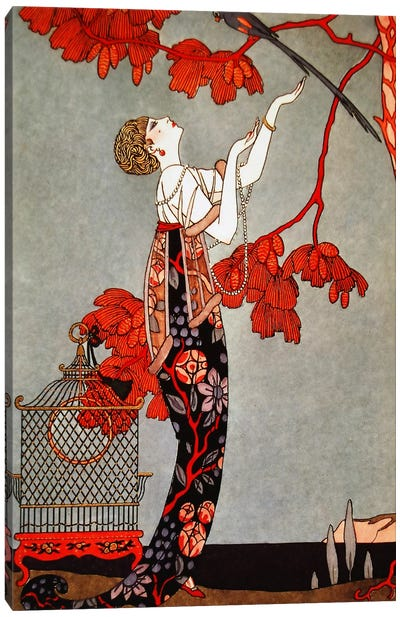 1914 Oriental Red Canvas Art Print