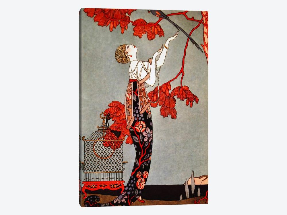 1914 Oriental Red by George Barbier 1-piece Canvas Artwork