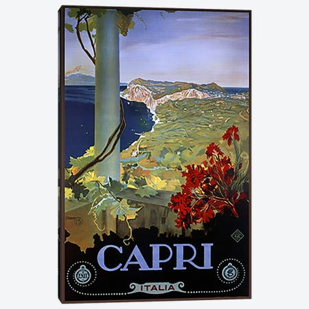 Capri Italia Canvas Print #5379} by Vintage Apple Collection Canvas Print