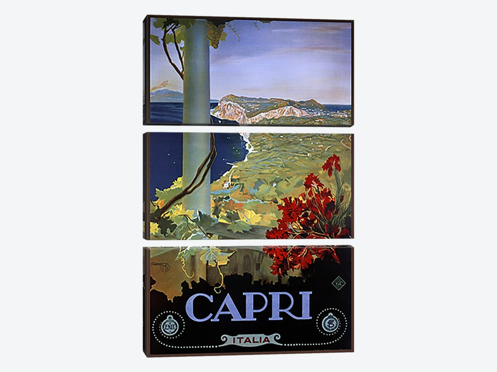 Capri Italia by Vintage Apple Collection 3-piece Canvas Wall Art