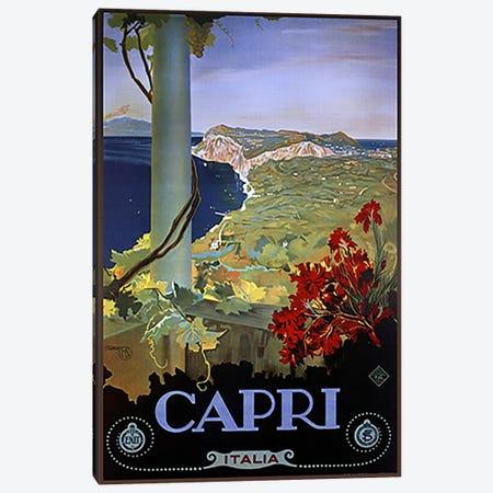 Capri Italia Canvas Print #5379} by Vintage Apple Collection Canvas Print
