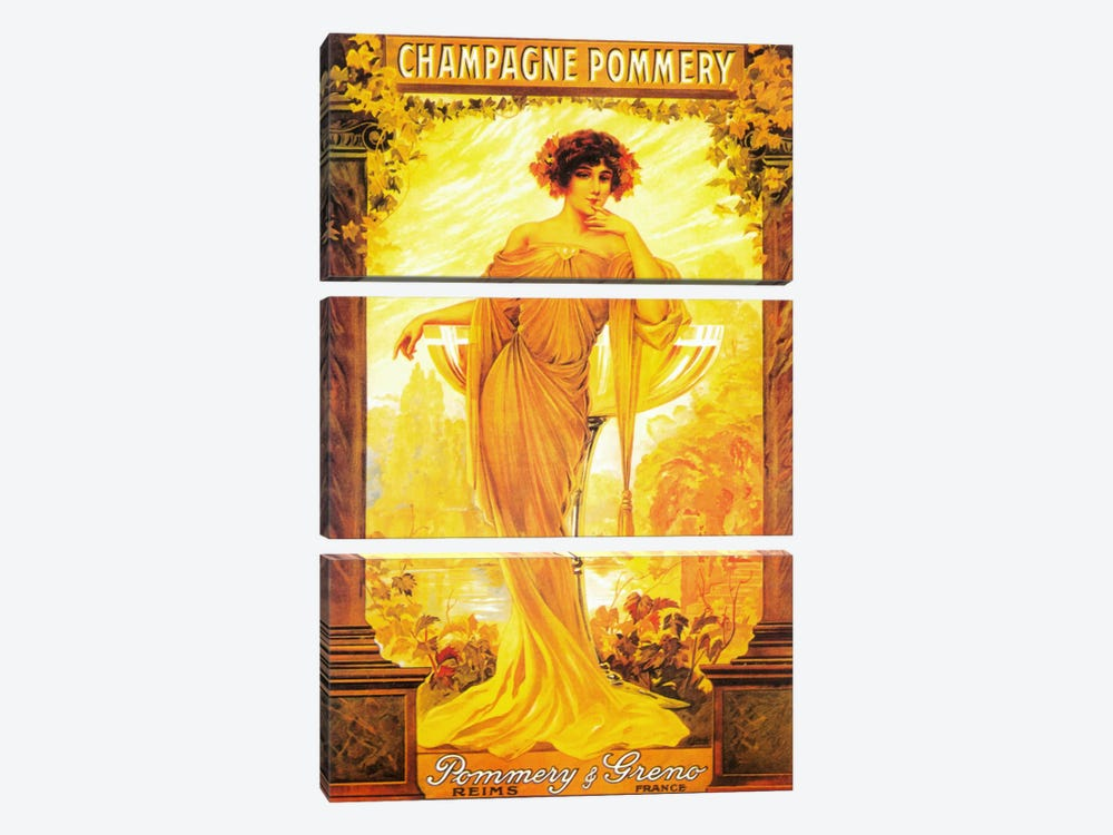 Champagne Pommery by Vintage Apple Collection 3-piece Canvas Wall Art