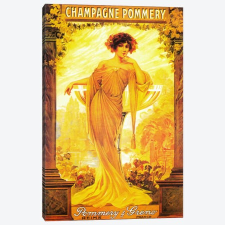 Champagne Pommery Canvas Print #5380} by Vintage Apple Collection Canvas Art