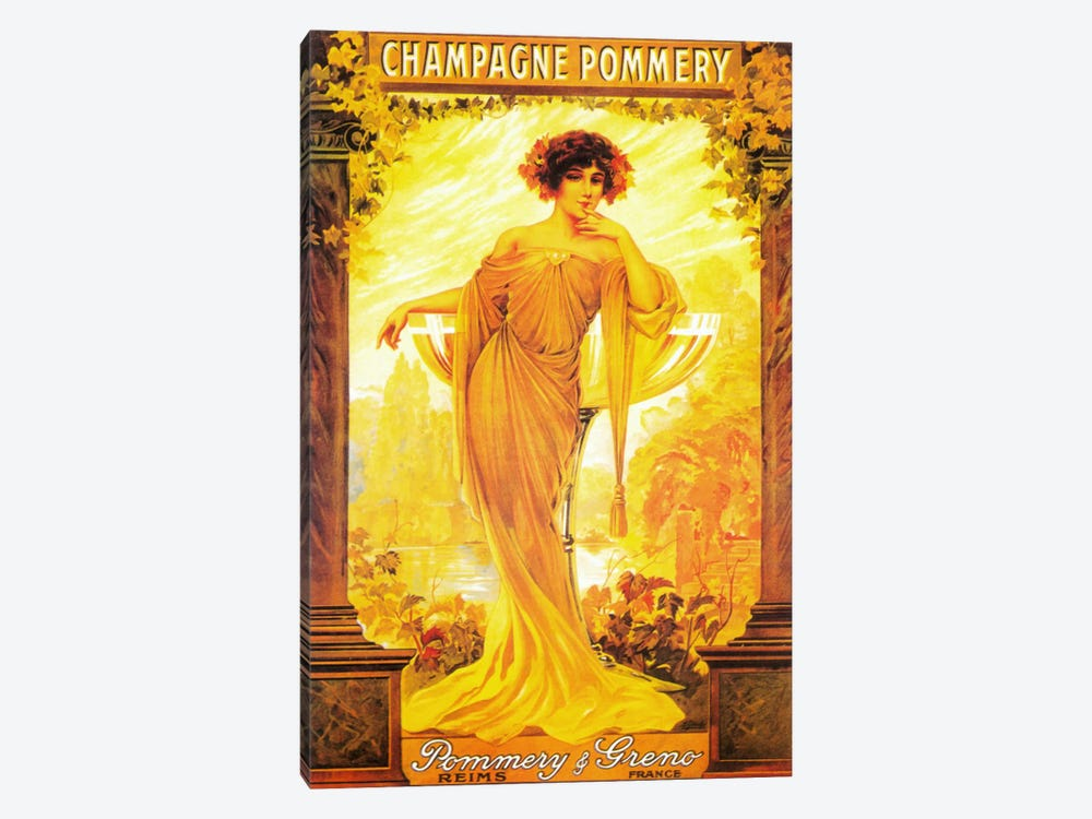 Champagne Pommery by Vintage Apple Collection 1-piece Canvas Wall Art
