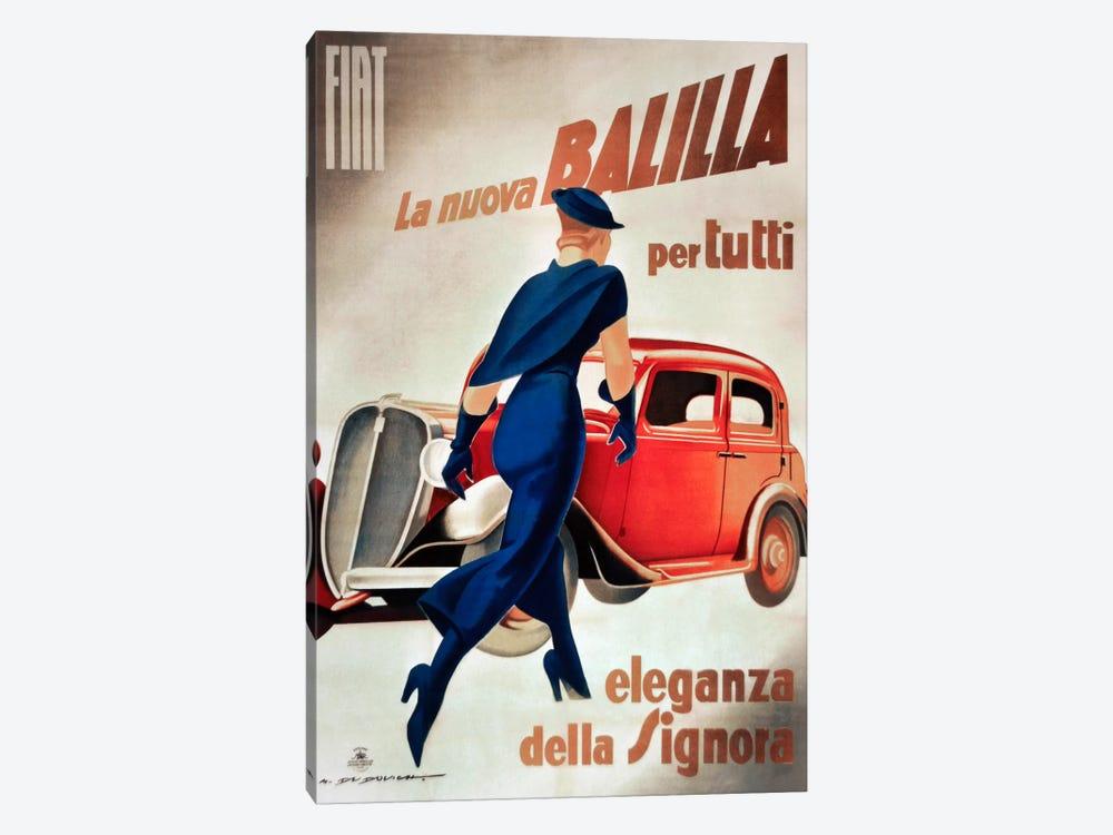Fiat Balilla Vintage Automobile Advertisement by Vintage Apple Collection 1-piece Canvas Print