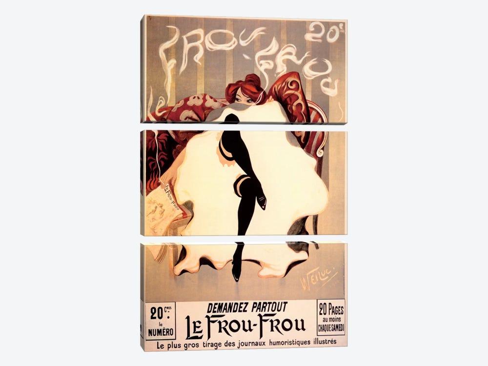 Le Frou Frou by Vintage Apple Collection 3-piece Canvas Artwork
