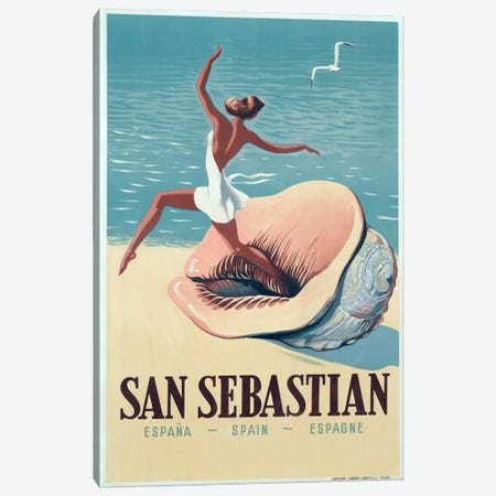 San Sebastian Canvas Print #5383} by Vintage Apple Collection Canvas Wall Art