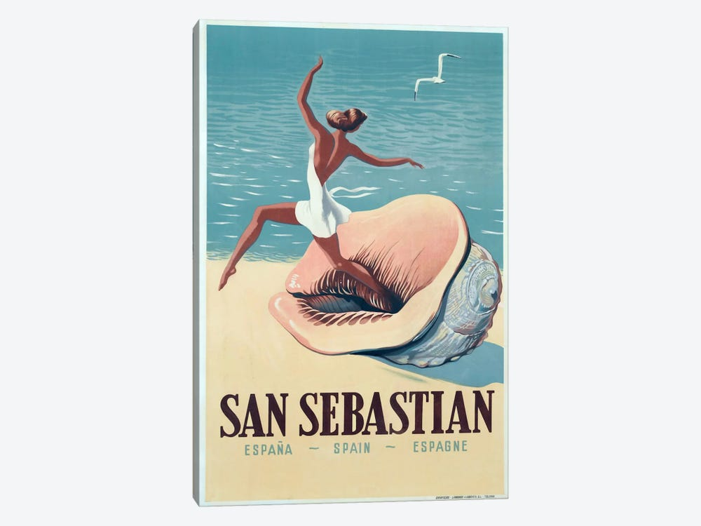 San Sebastian by Vintage Apple Collection 1-piece Art Print