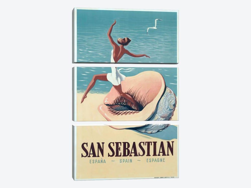 San Sebastian by Vintage Apple Collection 3-piece Canvas Art Print