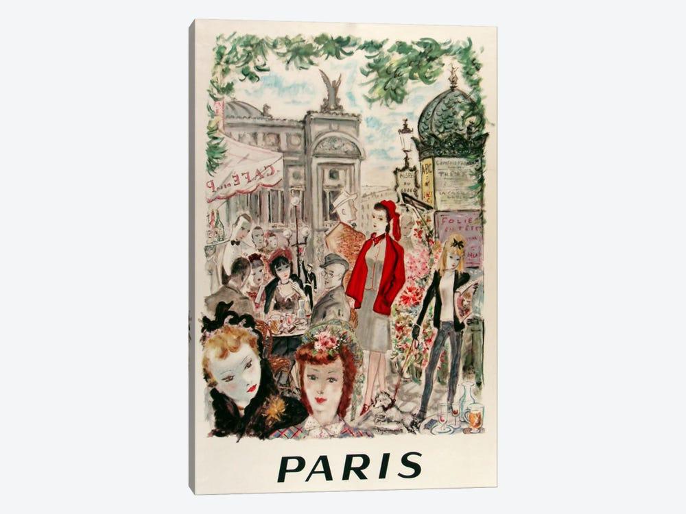 Beautiful Paris by Vintage Apple Collection 1-piece Canvas Art Print