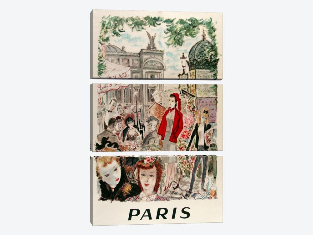 Beautiful Paris by Vintage Apple Collection 3-piece Art Print