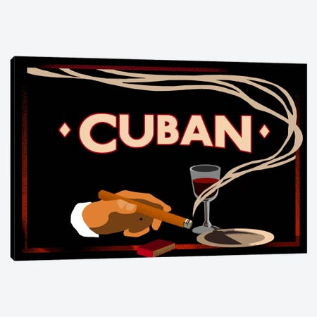 Cuban Canvas Print #5388} by Vintage Apple Collection Canvas Artwork