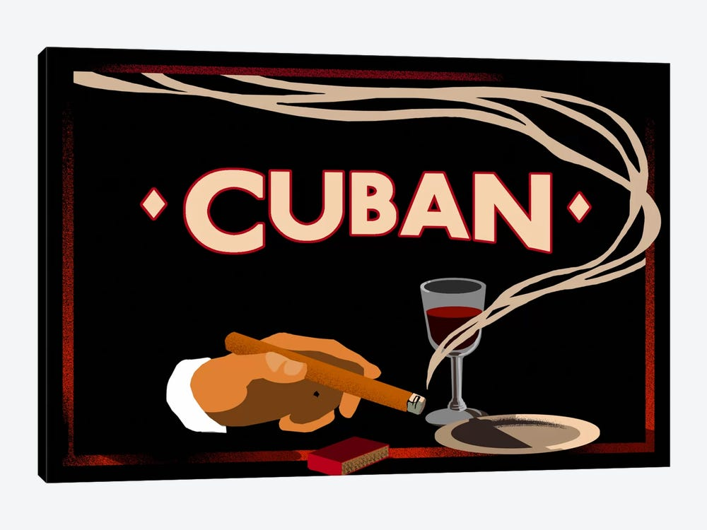 Cuban by Vintage Apple Collection 1-piece Canvas Artwork