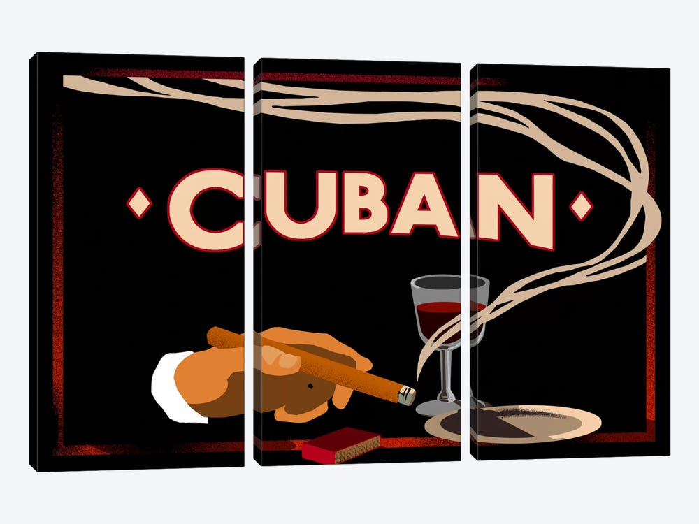 Cuban by Vintage Apple Collection 3-piece Canvas Art