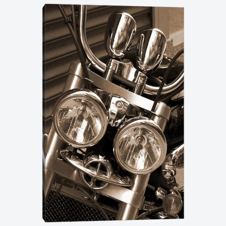Harley Motorcycle Canvas Print #54} Art Print