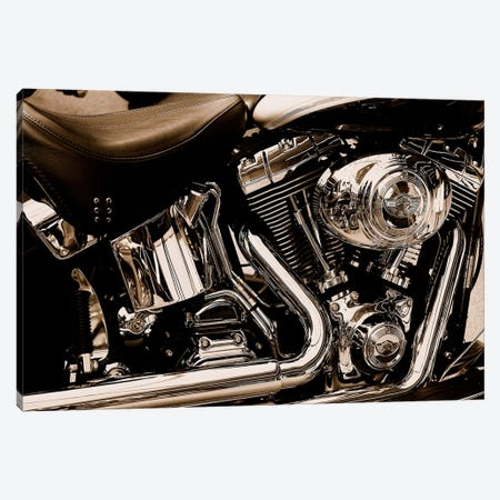 Harley Motorcycle Canvas Print #55} Canvas Art Print