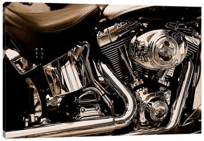 Harley Motorcycle Canvas Art Print