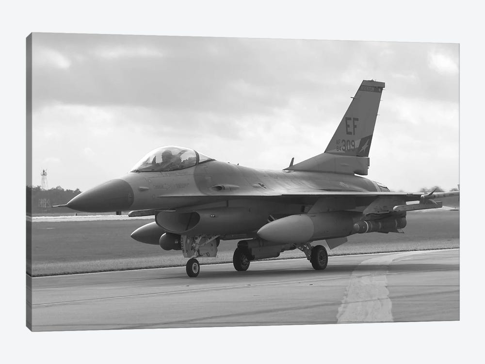 F-16 Fighter Plane by Unknown Artist 1-piece Canvas Print