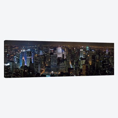 New York Panoramic Skyline Cityscape Canvas Print #6000} by Unknown Artist Art Print