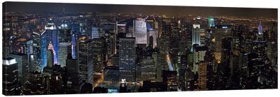 New York Panoramic Skyline Cityscape Canvas Print #6000