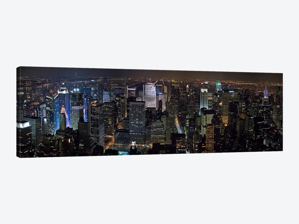 New York Panoramic Skyline Cityscape by Unknown Artist 1-piece Canvas Artwork