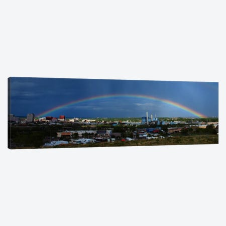 Colorado Springs Panoramic Skyline Cityscape (Rainbow) Canvas Print #6001} Art Print
