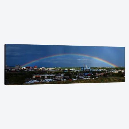 Colorado Springs Panoramic Skyline Cityscape (Rainbow) Canvas Print #6001} by Unknown Artist Art Print