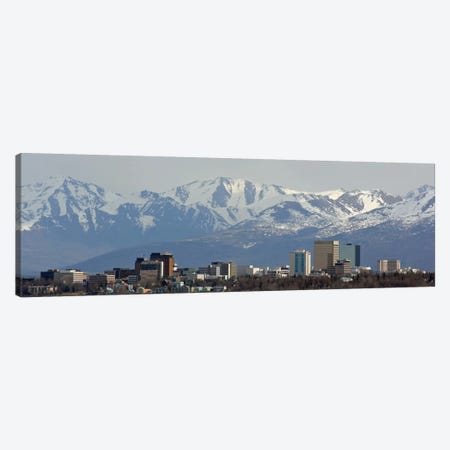 Anchorage Panoramic Skyline Cityscape Canvas Print #6002} by Unknown Artist Canvas Art Print