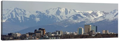 Anchorage Panoramic Skyline Cityscape Canvas Art Print