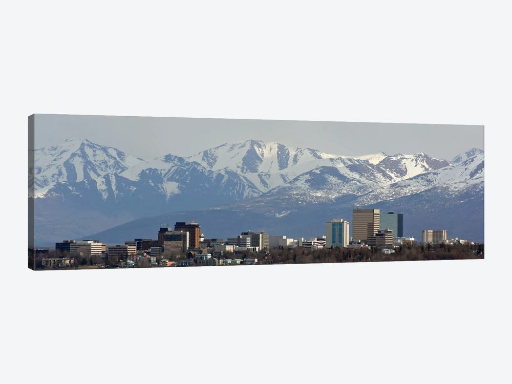 Anchorage Panoramic Skyline Cityscape 1-piece Canvas Wall Art