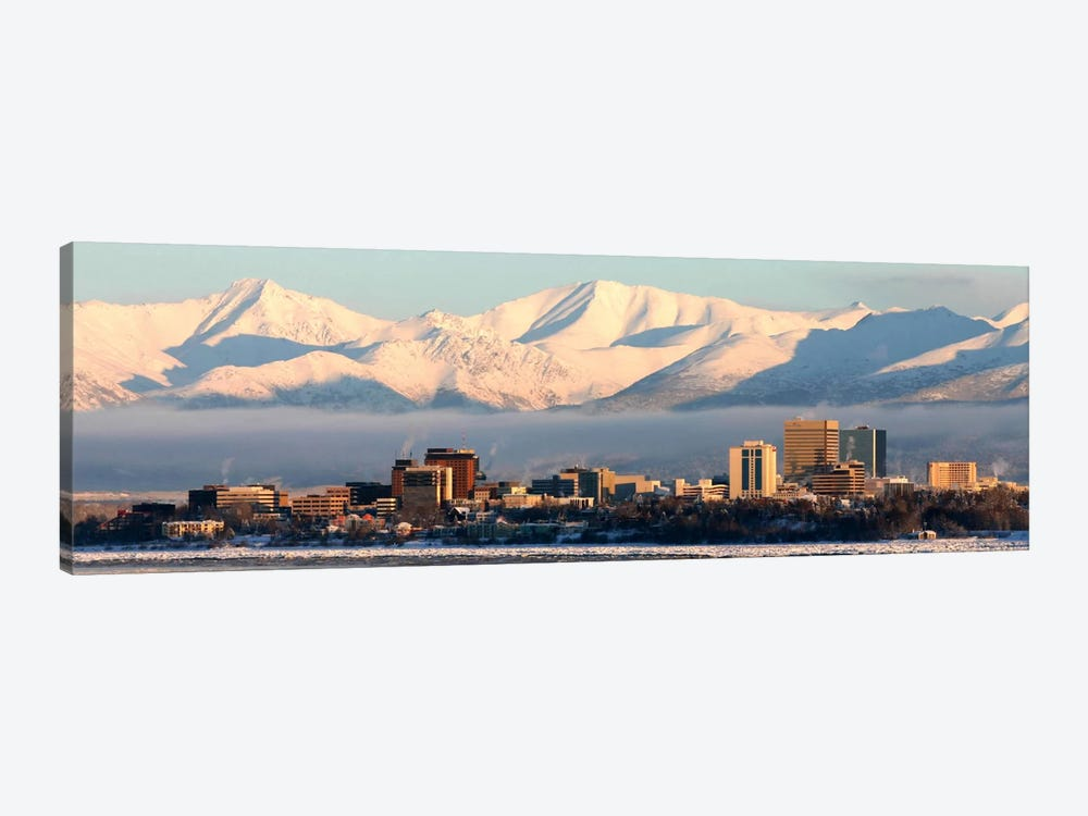 Anchorage Panoramic Skyline Cityscape (Dusk) 1-piece Art Print