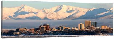 Anchorage Panoramic Skyline Cityscape (Dusk) Canvas Art Print