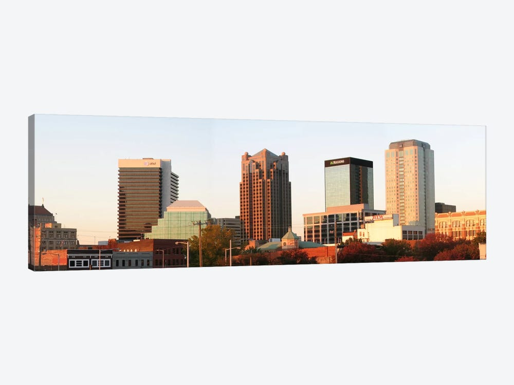 Birmingham Panoramic Skyline Cityscape (Evening) by Unknown Artist 1-piece Canvas Print