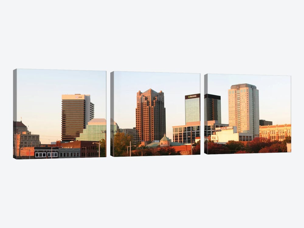 Birmingham Panoramic Skyline Cityscape (Evening) by Unknown Artist 3-piece Art Print