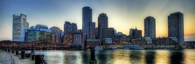 Boston Panoramic Skyline Cityscape Canvas Wal Unknown