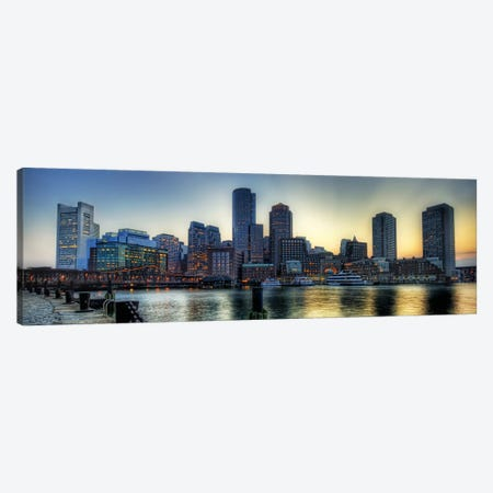 Boston Panoramic Skyline Cityscape Canvas Print #6007} Canvas Artwork