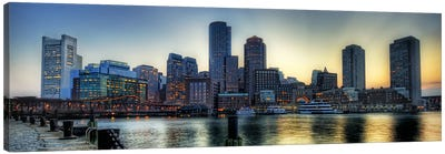 Boston Panoramic Skyline Cityscape Canvas Art Print
