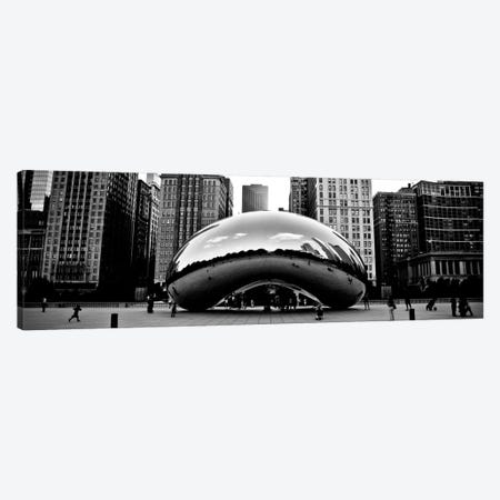 Chicago Panoramic Skyline Cityscape (Bean) Canvas Print #6008} Canvas Art Print