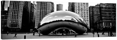 Chicago Panoramic Skyline Cityscape (Bean) Canvas Art Print