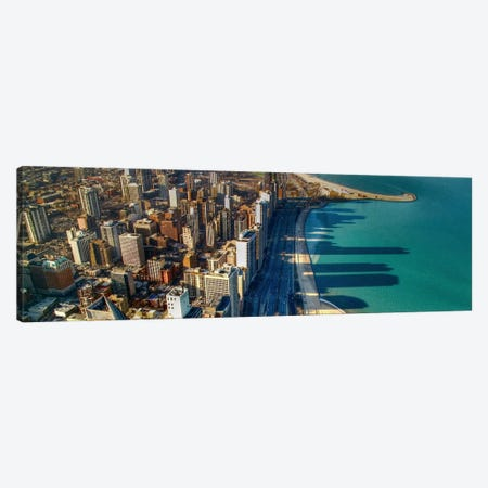 Chicago Panoramic Skyline Cityscape (John Hancock view) Canvas Print #6009} Art Print