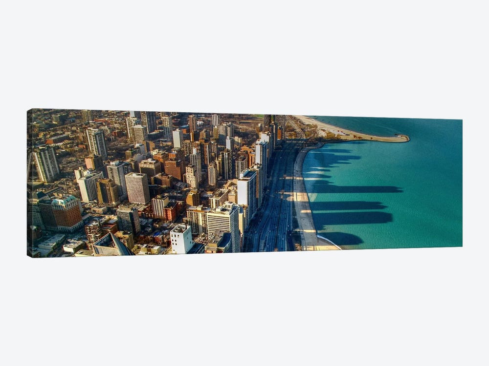 Chicago Panoramic Skyline Cityscape (John Hancock view) by Unknown Artist 1-piece Canvas Art Print